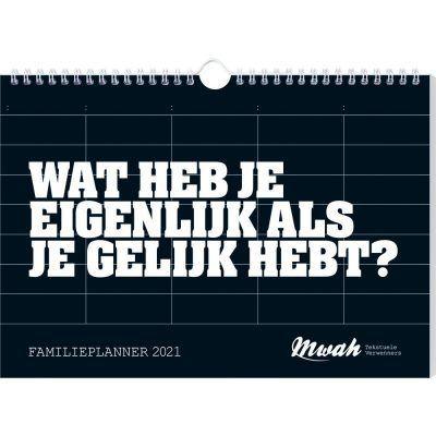 Mwah Familieplanner 2021 Familie kalender