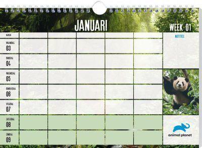 Animal Planet Familieplanner 2021 Dieren kalenders