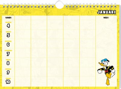 Donald Duck Familieplanner 2021 Familie kalender