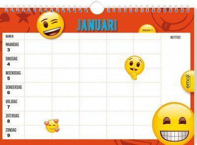 Emoji Familieplanner 2021 Familie kalender