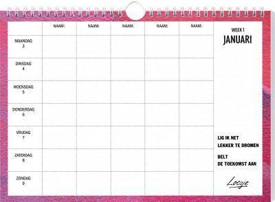 Loesje Familieplanner 2021 Familie kalender