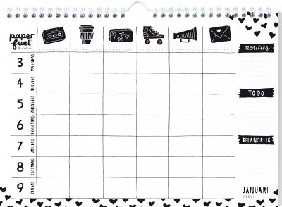 Paperfuel Familieplanner 2021 Familie kalender