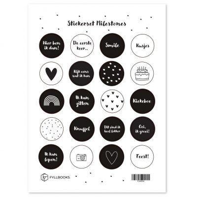 Fyllbooks Stickerset Milestones Scrapbook stickers