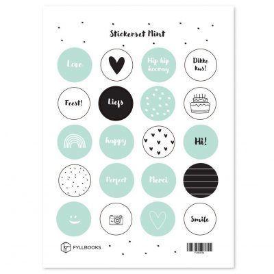 Fyllbooks Stickerset Mint Scrapbook stickers
