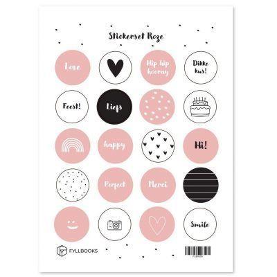 Fyllbooks Stickerset Roze Scrapbook stickers