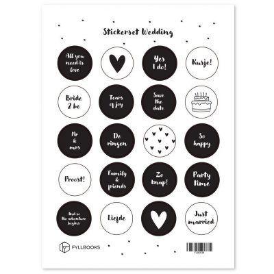 Fyllbooks Stickerset Wedding Scrapbook stickers