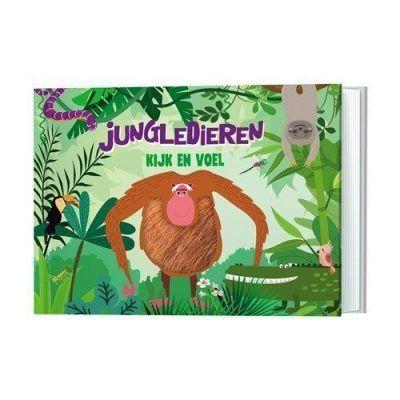 Jungledieren Kijk- en voelboek Baby- & Peuterboeken