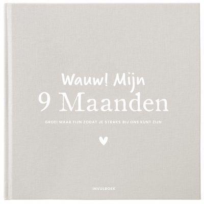 Pink Peach Mijn 9 maanden dagboek – Linnen beige 9 maanden dagboek