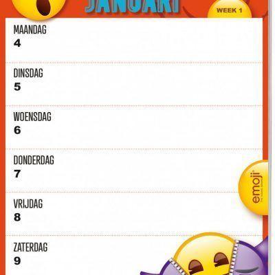 Emoji Weekkalender 2021 Jaarkalender