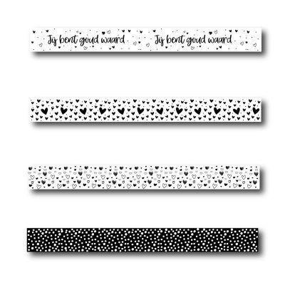 Winkeltjevananne Washi tape set 2 (4 stuks) Masking tape