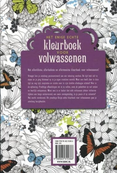 Het enige echte kleurboek voor volwassenen Hanna Karlzon kleurboek