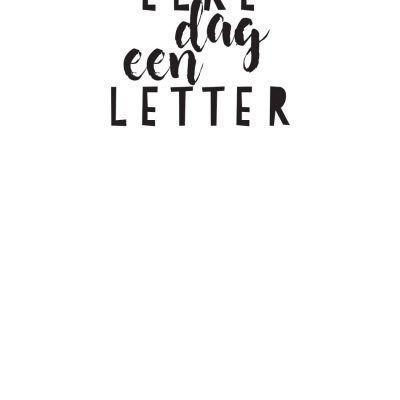 Handletteringdagboek Elke dag een letter Dagboek