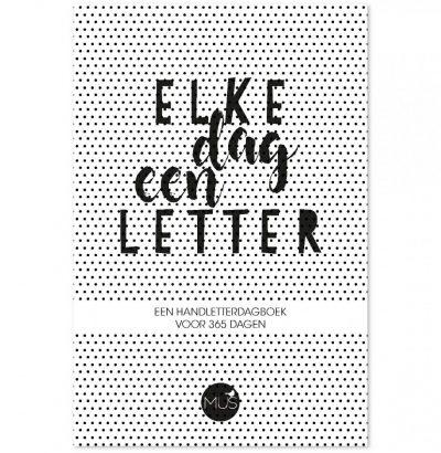 Handletteringdagboek Elke dag een letter Dagboek voor volwassenen