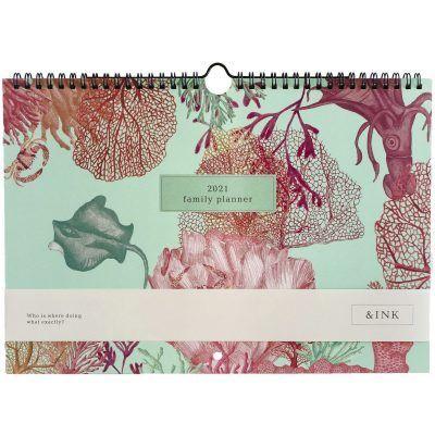 &INK Familieplanner 2021 A4 – Aqua Familie kalender