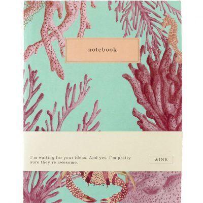 &INK Notitieboek – Aqua Notitieboek van A5 formaat