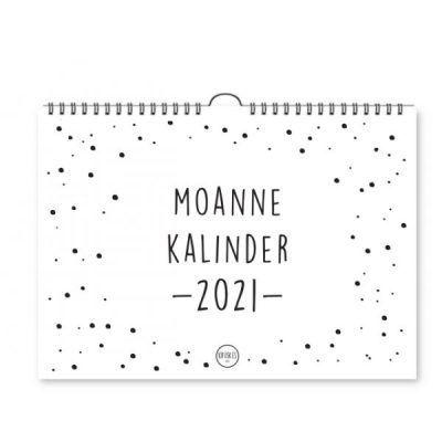 Krúskes Moannekalinder 2021 – A4 Jaarkalender