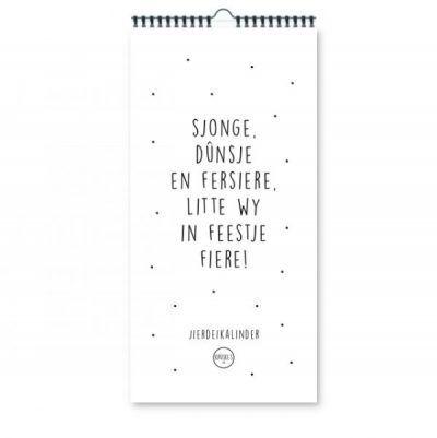 Krúskes Smalle verjaardagskalender – Sjonge, dûnsje & fersiere Grappige kalender