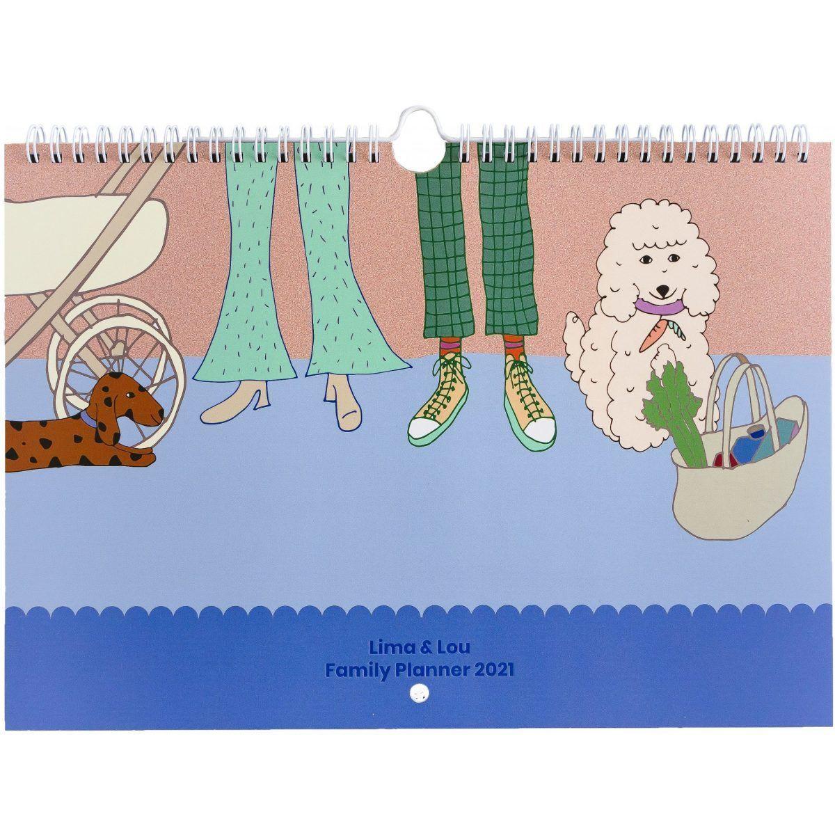 Lima&Lou Familieplanner 2021 A4 Familie kalender