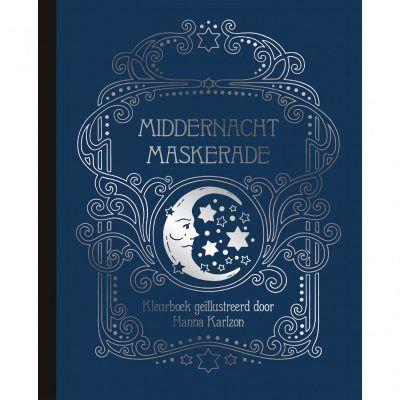 Middernacht Maskerade kleurboek Hanna Karlzon kleurboek