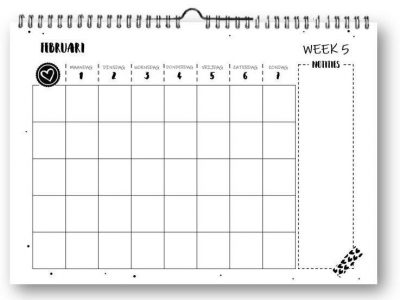 SilliBeads Familieplanner 2021 – A4 Familie kalender