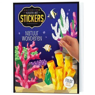 Stickerboek Natuurwonderen Cadeauboeken voor kinderen