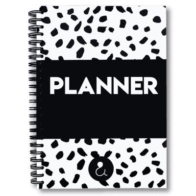 Studio Ins & Outs Planner A5 – Zwart-wit Jaarplanner