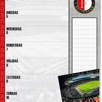 Feyenoord Weekkalender 2021 Feyenoord kalender