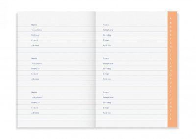A-Journal Address journal – Adresboekje Adresboek