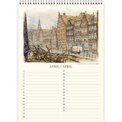 Anton Pieck Verjaardagskalender Amsterdam A4 Anton Pieck kalender