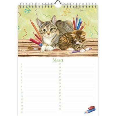 Franciens Katten Verjaardagskalender 'Bloemen kittens' Bloemen kalender