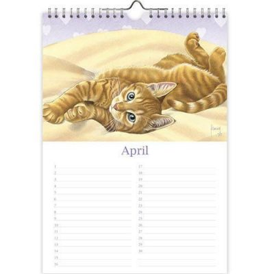 Franciens Katten Verjaardagskalender 'Miepje' A4 Franciens Katten kalender