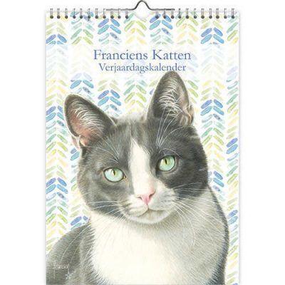 Franciens Katten Verjaardagskalender 'Tibbe' A4 Franciens Katten kalender