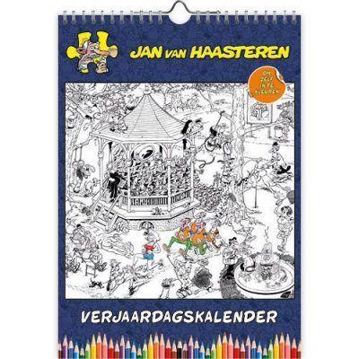 Jan van Haasteren Kleurplaten Verjaardagskalender A4 Jaarkalender