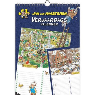 Jan van Haasteren Verjaardagskalender A4 Jaarkalender
