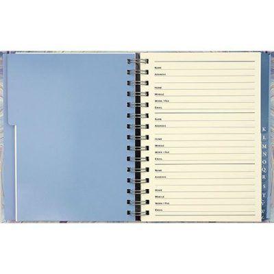 Peter Pauper Adresboek Blue Agate A5 Adresboek