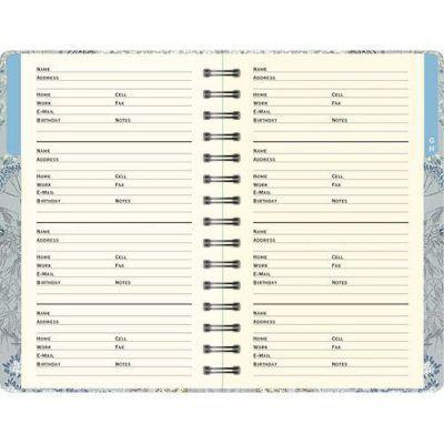 Peter Pauper Adresboek Dusky Meadow A6 Adresboek met ringband