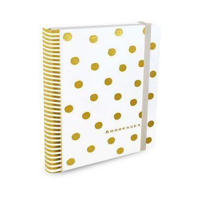 Peter Pauper Adresboek Gold Dots A5 Adresboek