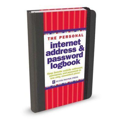 Peter Pauper Internet address & passwordboekje Zwart A6 Wachtwoorden boekje