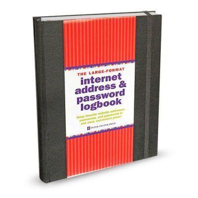 Peter Pauper Internet address & passwordboekje Zwart A5 Wachtwoorden boekje