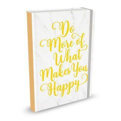Peter Pauper Notitieboek Do More of What Makes You Happy A6 Notitieboek