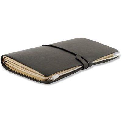 Peter Pauper Notitieboek Voyager leer Black Leren notitieboek