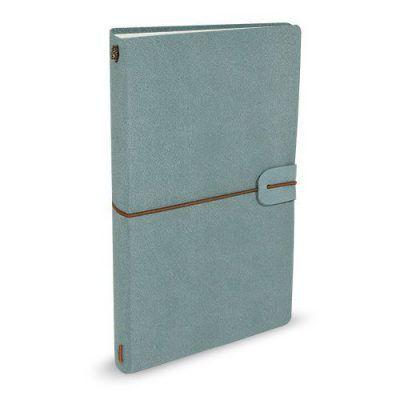 Peter Pauper Notitieboek Voyager leer Light Blue Leren notitieboek