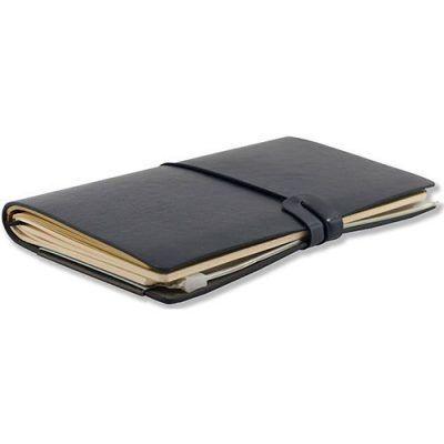 Peter Pauper Notitieboek Voyager leer Midnight Blue Leren notitieboek