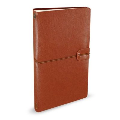 Peter Pauper Notitieboek Voyager leer Nutmeg Leren notitieboek