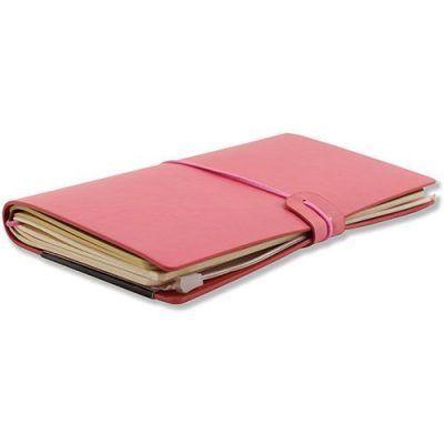 Peter Pauper Notitieboek Voyager leer Pink Leren notitieboek