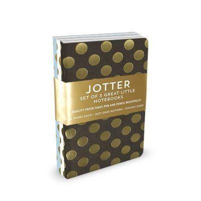 Peter Pauper Notitieboekjes Jotter Gold Dots – Set van 3 stuks Notitieboek