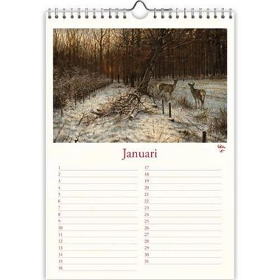 Rien Poortvliet Natuur Verjaardagskalender A4 Jaarkalender