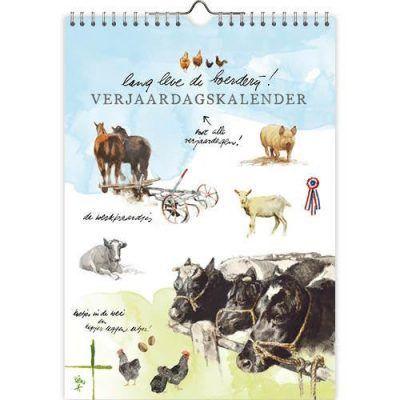 Rien Poortvliet Verjaardagskalender Lang Leve de Boerderij A4 Boerderij kalender