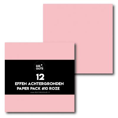 Studio Ins & Outs Fancy achtergronden #10 – Roze effen Design papier