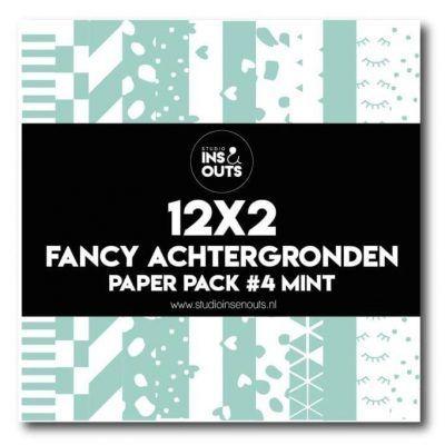 Studio Ins & Outs Fancy achtergronden #4 – Mint Design papier